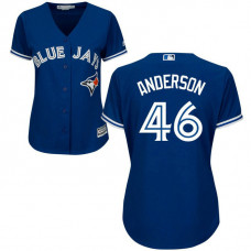 Women - Toronto Blue Jays #46 Brett Anderson Alternate Royal Cool Base Jersey