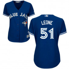 Women - Toronto Blue Jays #51 Dominic Leone Alternate Royal Cool Base Jersey