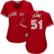 Women - Toronto Blue Jays #51 Dominic Leone 2017 Replica Scarlet Cool Base Jersey