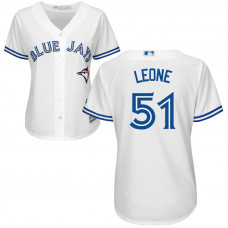 Women - Toronto Blue Jays #51 Dominic Leone Home White Cool Base Jersey