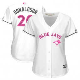 Women - 2017 Mother's Day Toronto Blue Jays #20 Josh Donaldson White Cool Base Jersey