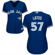Women - Toronto Blue Jays #57 Mat Latos Alternate Royal Cool Base Jersey