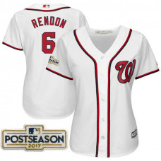 Women - Anthony Rendon #6 Washington Nationals 2017 Postseason White Cool Base Jersey