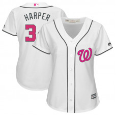 Women - 2017 Mother's Day Washington Nationals #34 Bryce Harper White Cool Base Jersey