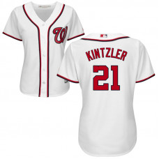 Women - Washington Nationals #4 Howie Kendrick Home White Cool Base Jersey