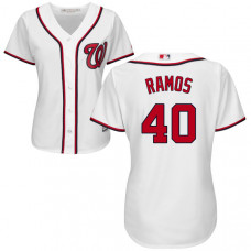 Women - Washington Nationals Wilson Ramos #40 White Authentic Cool base Jersey
