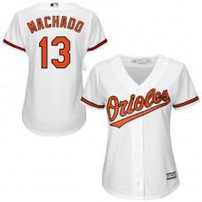 Women - Baltimore Orioles #13 Manny Machado Home White Cool Base Jersey