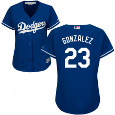 Women - Los Angeles Dodgers Adrian Gonzalez #23 Royal Official Cool Base Jersey