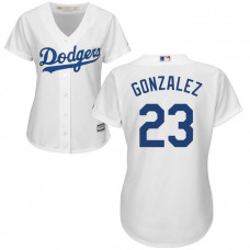 Women - Los Angeles Dodgers Adrian Gonzalez #23 White Official Cool Base Jersey