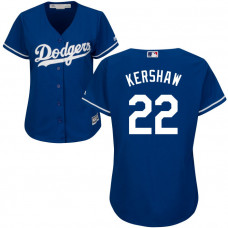Women - Los Angeles Dodgers Clayton Kershaw #22 Royal Official Cool Base Jersey