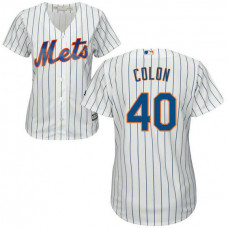Womens New York Mets Bartolo Colon #40 Home White Cool Base Jersey