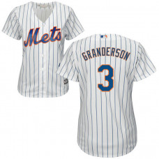 Women - New York Mets Curtis Granderson #3 White Official Cool Base Jersey