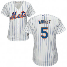 Women - New York Mets David Wright #5 White Official Cool Base Jersey