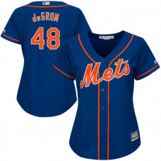 Women - New York Mets Jacob deGrom #48 Royal Official Cool Base Jersey