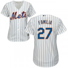 Womens New York Mets Jeurys Familia #27 Home White Cool Base Jersey