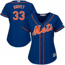 Women - New York Mets Matt Harvey #33 Royal Official Cool Base Jersey