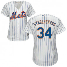Women - New York Mets Noah Syndergaard #34 White Official Cool Base Jersey