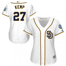 Women - San Diego Padres #27 Matt Kemp White 2016 All-Star Patch Authentic Cool Base Jersey