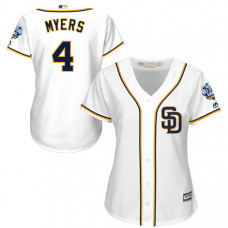 Women - San Diego Padres #4 Wil Myers White 2016 All-Star Patch Authentic Cool Base Jersey