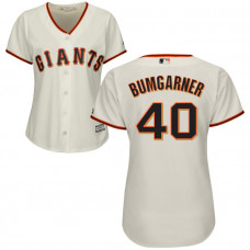 Women - San Francisco Giants Madison Bumgarner #40 Cream Official Cool Base Jersey