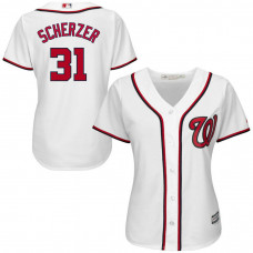 Women - Washington Nationals #31 Max Scherzer Home White Cool Base Jersey