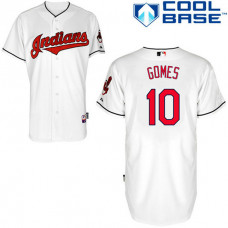 Cleveland Indian #10 Yan Gomes White Jersey