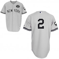 "New York Yankees #2 Derek Jeter GMS ""The Boss"" Grey Jersey"