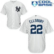 YOUTH New York Yankees #22 Jacoby EllsburyAuthentic White/Navy Blue Pinstripe Home Jersey