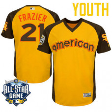 YOUTH 2016 All-Star American Chicago White Sox Todd Frazier #21 Yellow Cool Base Jersey