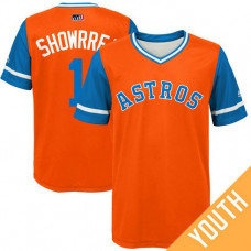 YOUTH Houston Astros Carlos Correa #1 Showrrea Orange Nickname 2017 Little League Players Weekend Jersey