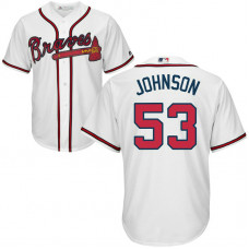 YOUTH Atlanta Braves #53 Jim Johnson Home White Cool Base Jersey