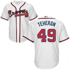 YOUTH Atlanta Braves #49 Julio Teheran Home White Cool Base Jersey