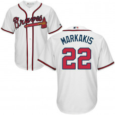 YOUTH Atlanta Braves #22 Nick Markakis Home White Cool Base Jersey