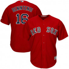 YOUTH Boston Red Sox #16 Andrew Benintendi Replica Alternate Scarlet Cool Base Jersey