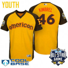 YOUTH 2016 All-Star American Boston Red Sox Craig Kimbrel #46 Yellow Cool Base Jersey