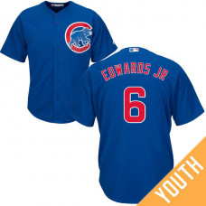 YOUTH Chicago Cubs #6 Carl Edwards Jr Alternate Royal Cool Base Jersey