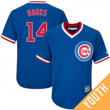 YOUTH Ernie Banks #14 Chicago Cubs Replica Cooperstown Royal Cool Base Jersey