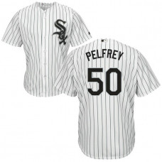 YOUTH Chicago White Sox #50 Mike Pelfrey Home White Cool Base Jersey
