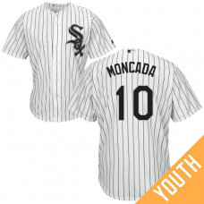 YOUTH Yoan Moncada #10 Chicago White Sox Home White Cool Base Jersey