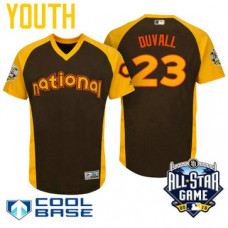 YOUTH 2016 All-Star National Cincinnati Reds Adam Duvall #23 Brown Cool Base Jersey