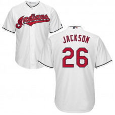 YOUTH Cleveland Indians #26 Austin Jackson Home White Cool Base Jersey