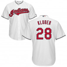 YOUTH Cleveland Indians Corey Kluber #28 Home White Cool Base Jersey