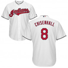 YOUTH Cleveland Indians Lonnie Chisenhall #8 Home White Cool Base Jersey