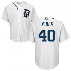 YOUTH Detroit Tigers #40 JaCoby Jones Home White Cool Base Jersey