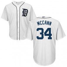YOUTH Detroit Tigers James Mccann #34 White Authentic Cool base Jersey