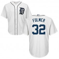 YOUTH Detroit Tigers Michael Fulmer #32 Home White Cool Base Jersey