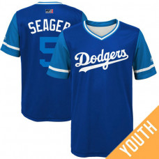 YOUTH Los Angeles Dodgers Corey Seager #5 Seager Royal Nickname 2017 Little League Players Weekend Jersey