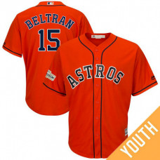 YOUTH Carlos Beltran #15 Houston Astros 2017 Postseason Orange Cool Base Jersey