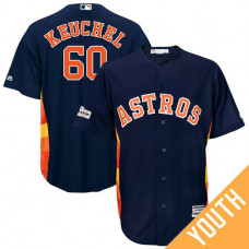 YOUTH Dallas Keuchel #60 Houston Astros 2017 Postseason Navy Cool Base Jersey