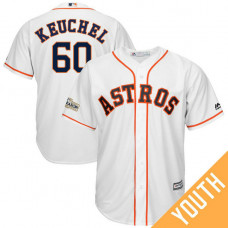 YOUTH Dallas Keuchel #60 Houston Astros 2017 Postseason White Cool Base Jersey